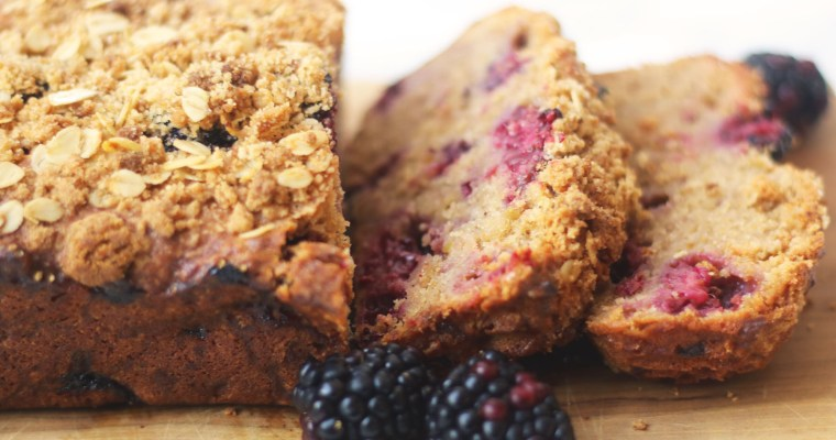 Apple and Blackberry Crumble Loaf Cake