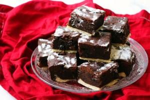Plate of mince pie brownies