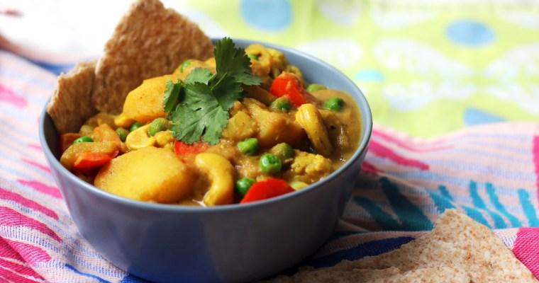 Vegan Potato, Cauliflower and Cashew Nut Korma