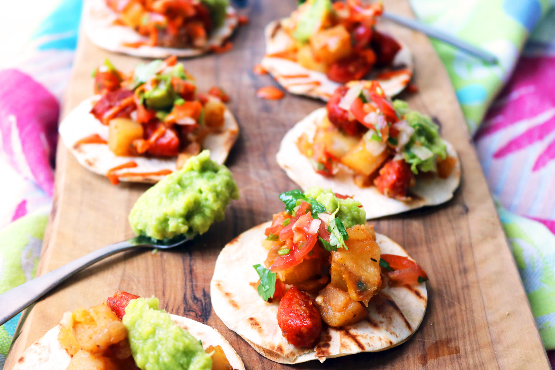 Vegan Potato and Chorizo Tacos