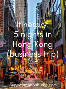 Itinerary: 5 nights in Hong Kong. Find out how to make the most of a business trip to Hong Kong where you only have before work, after work and your lunch break to explore!