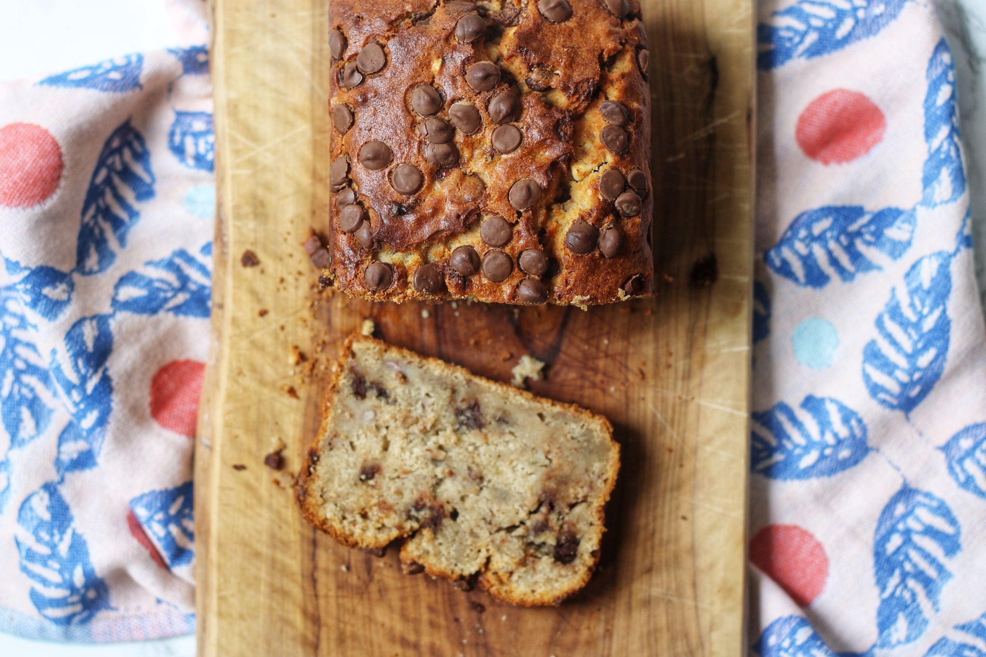Peanut Butter & Chocolate Chip Banana Bread