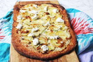 Potato Ricotta and Rosemary Pizza Landscape