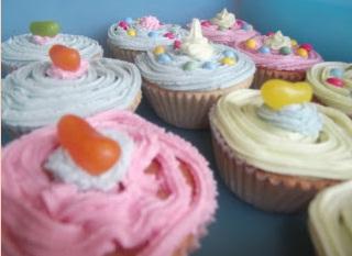 Pink fairy cakes recipe