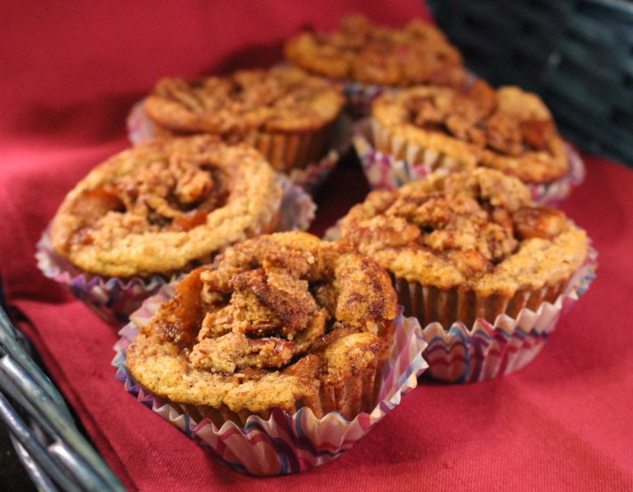 Apple Pecan Muffins in a Basket