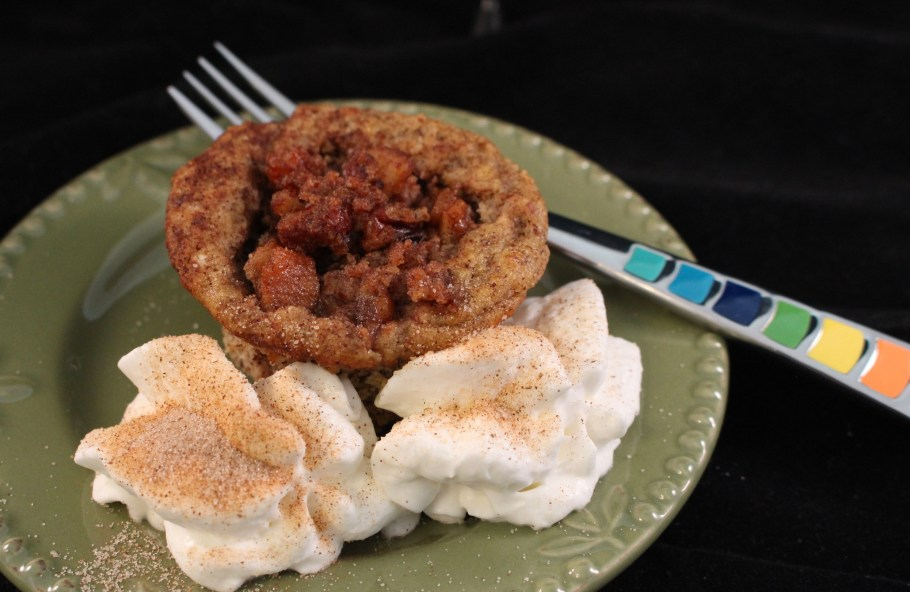 Apple Pecan Muffin with Whipped Cream