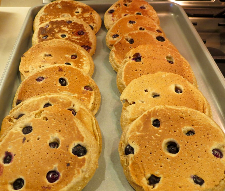 Blueberry-Whole-Wheat-Pancakes-out-of-oven