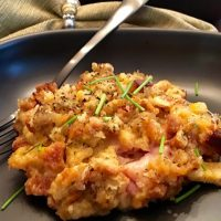 Chicken Cordon Bleu Casserole with Stuffing