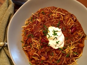 Guinness Chili With Sour Cream