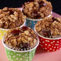 Dark Chocolate, Walnut, and Banana Oatmeal Muffins (21-Day Fix)