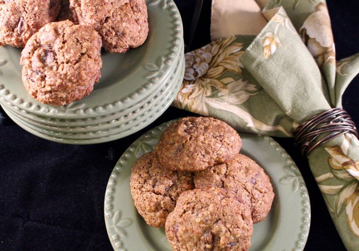Healthy Oatmeal Raisin Cookie Served on plates
