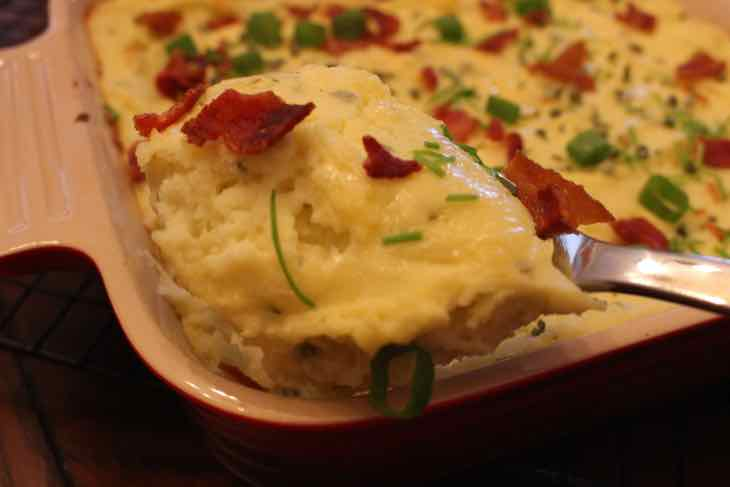 Loaded Twice Baked Potato Casserole Spoonful