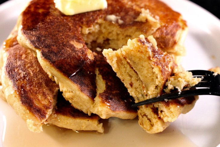 Whole Wheat Buttermilk Pancakes fork tender