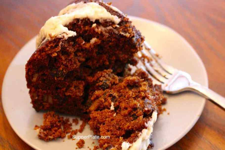 Figgy Pudding with fork