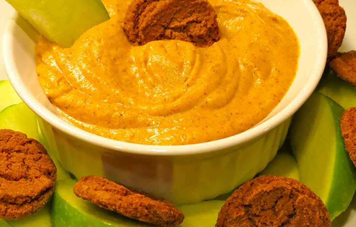 Pumpkin Dip with Cool Whip close up