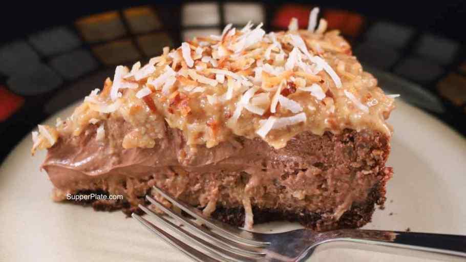 German Chocolate Cheesecake Cover