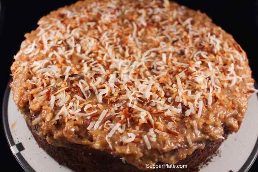 German Chocolate Cheesecake with coconut icing