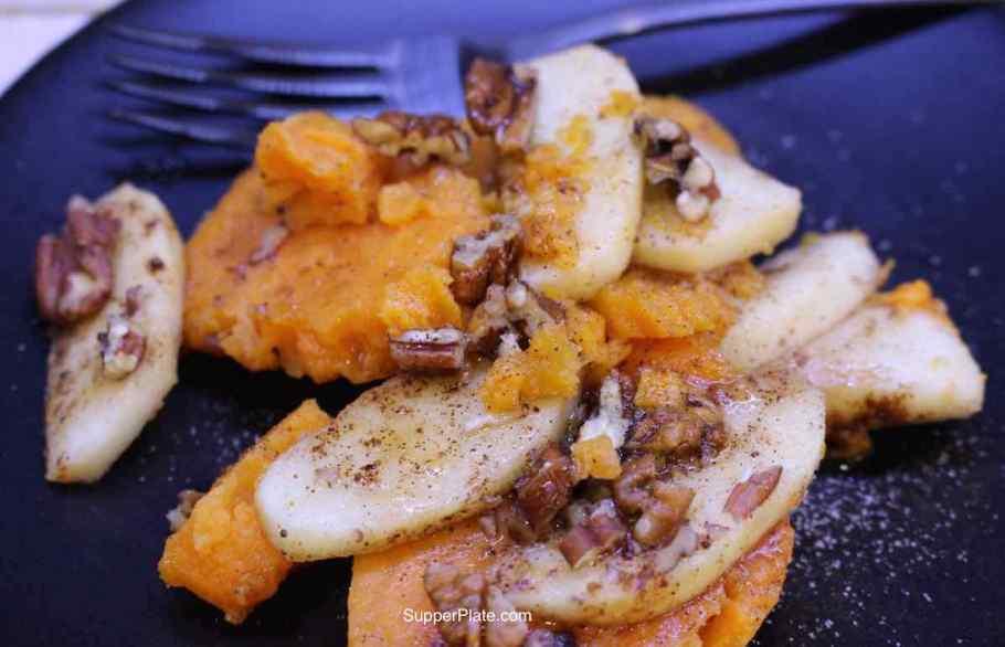 Sweet Potato and Apple Casserole Plated