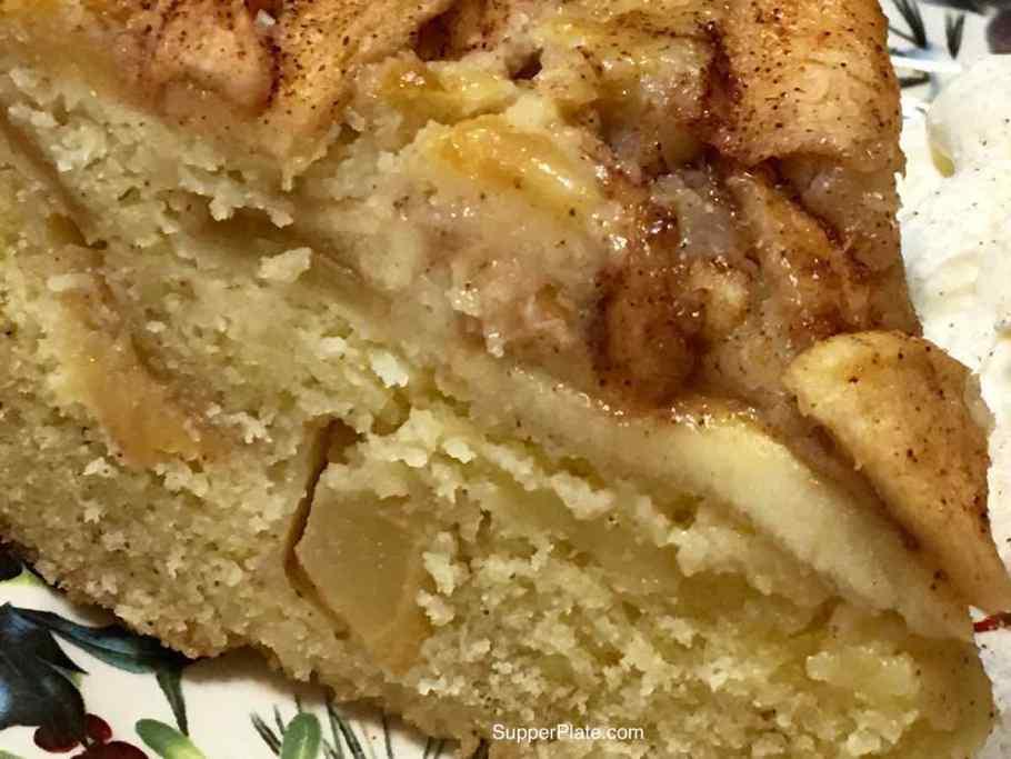 Apple Cinnamon Cake close up 2