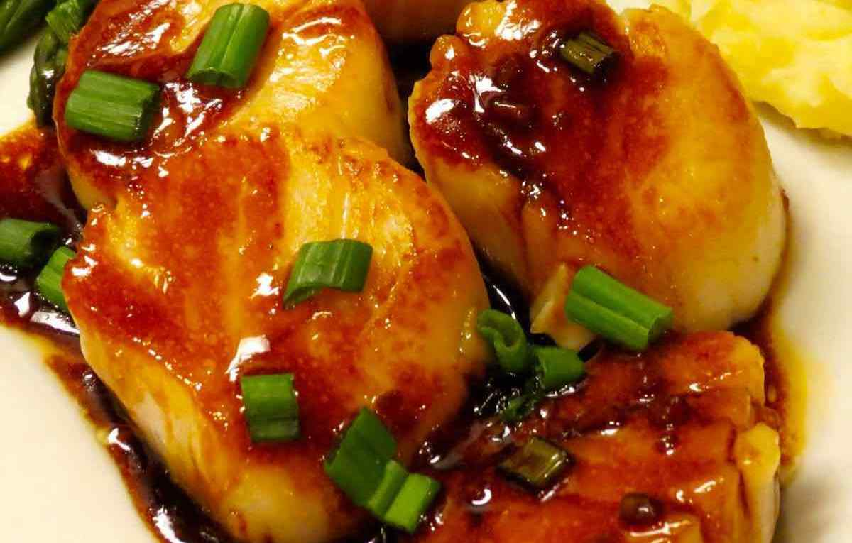 Asian Scallops closeup