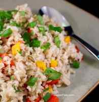 Basmati Vegetable Rice cooking cover