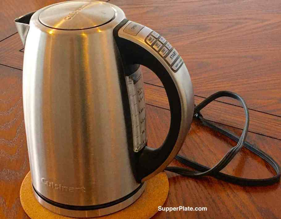 Cuisinart Electric Kettle on a table