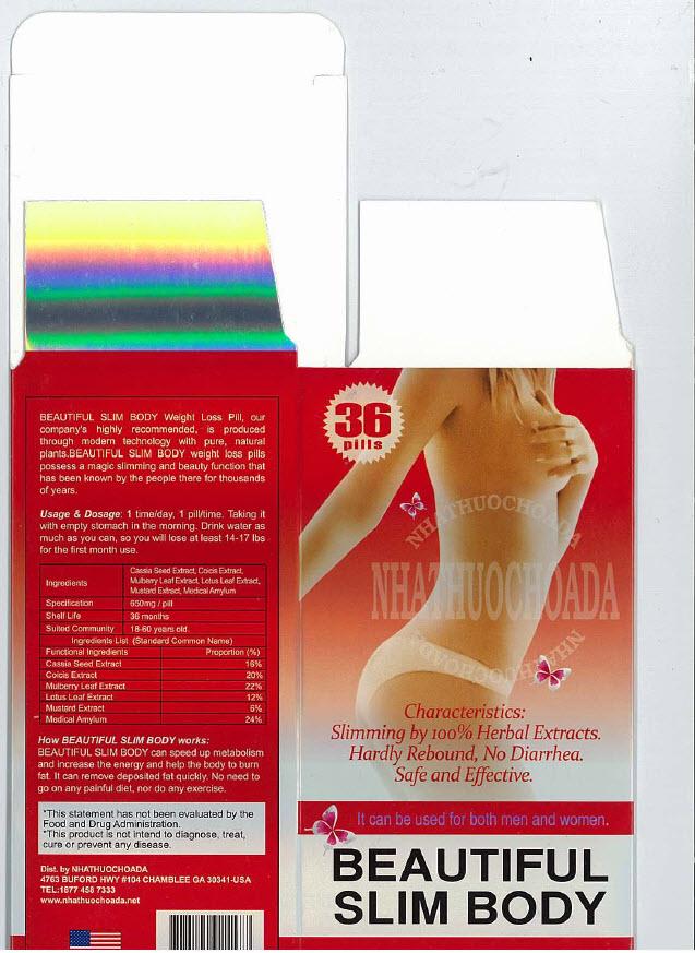 Beautiful Slim Body Ingredients