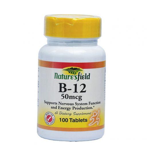 Nature's Field Vitamin B-12 (50mcg)