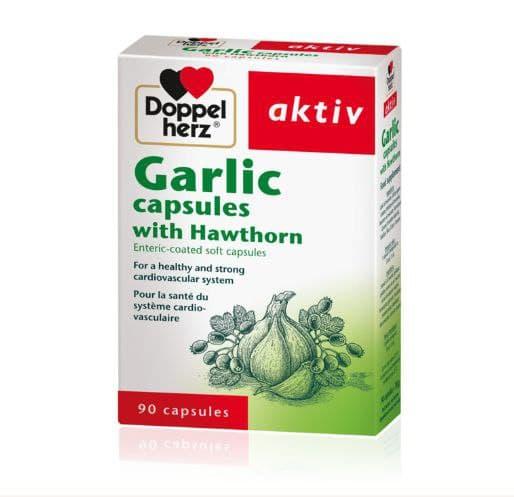 Doppelherz Garlic capsules with hawthorn 90 Caps