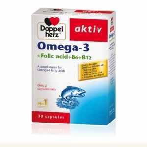 Doppelherz Omega-3 (eng) + Folic acid + B6 + B12 - 30 Tabs