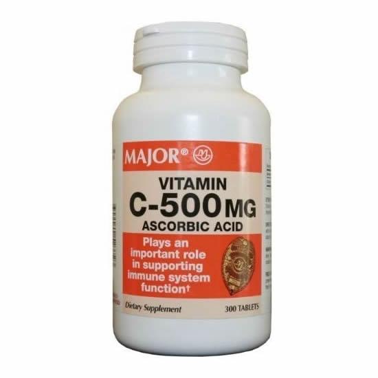 Major Chewable Vitamin C - 500mg 100 Tabs