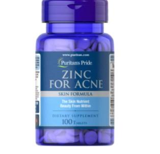 Puritans Pride Zinc for Acne 100 Tabs Skin Formula