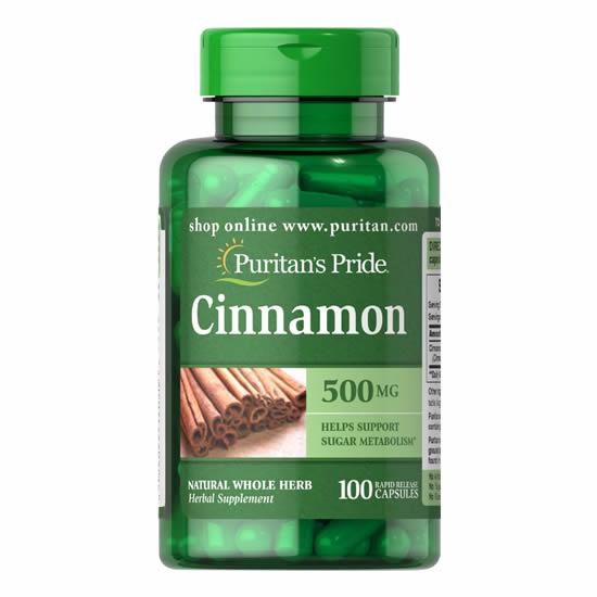 Puritan's Pride Cinnamon 500 mg-100 Cap