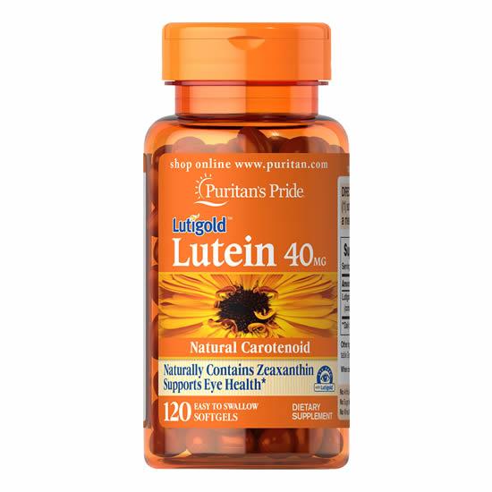 Puritan's Pride Lutein 40 mg with Zeaxanthin - 120 Softgels
