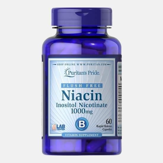 Puritan's Pride Niacin Inositol Nicotinate 1000 mg- 60 Caps