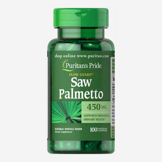 Puritan's Pride Saw Palmetto 450 mg - 100 Caps
