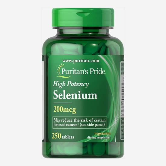Puritan's Pride High Potency Selenium 200 mcg - 100 Tabs