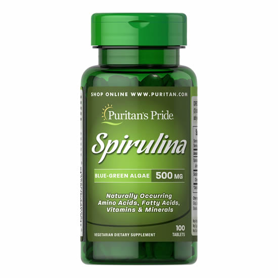 Puritan's Pride Spirulina 500 mg - 100 Tabs