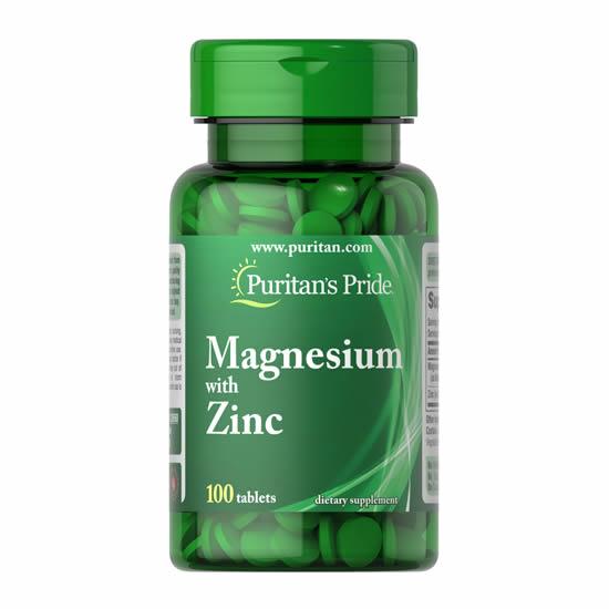 Puritan's Pride Magnesium with Zinc -100 Tabs