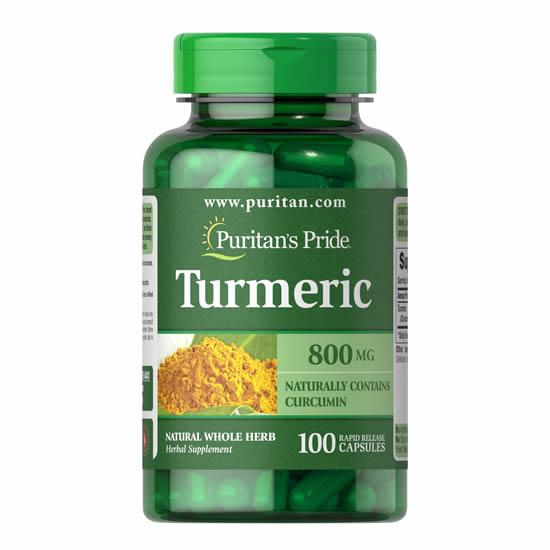 Puritan's Pride Turmeric 800 mg- 100 Cap