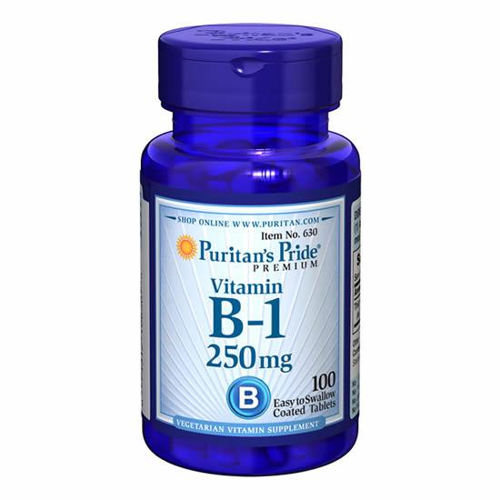 Puritan's Pride Vitamin B-1 250mg-100 Tabs
