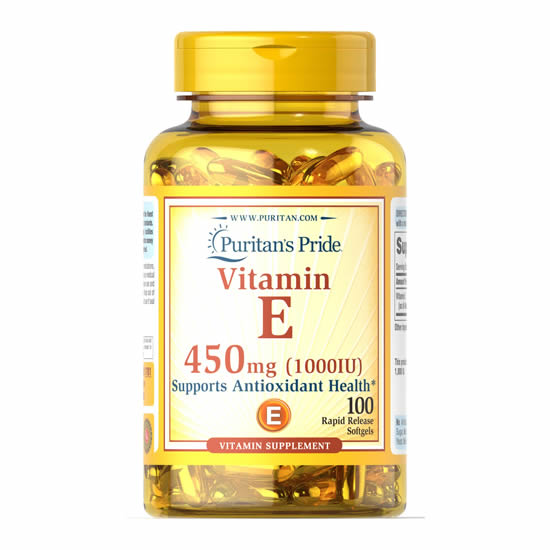Puritan's Pride Vitamin E 450 mg 1000IU - 100 Softgels