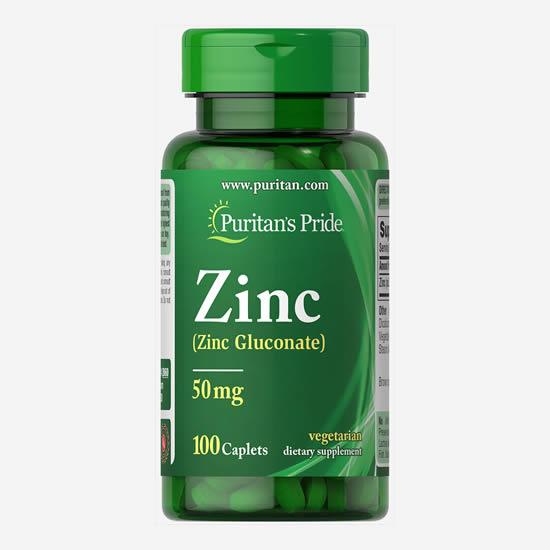 Puritan's Pride Zinc 50 mg - 100 Caps