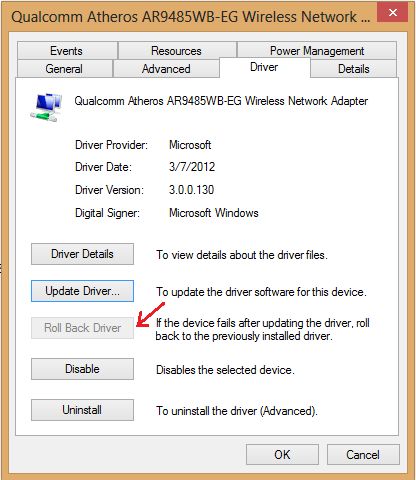 wifi driver working