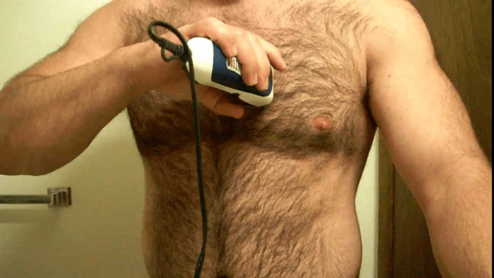 how to trim chest hair without itching