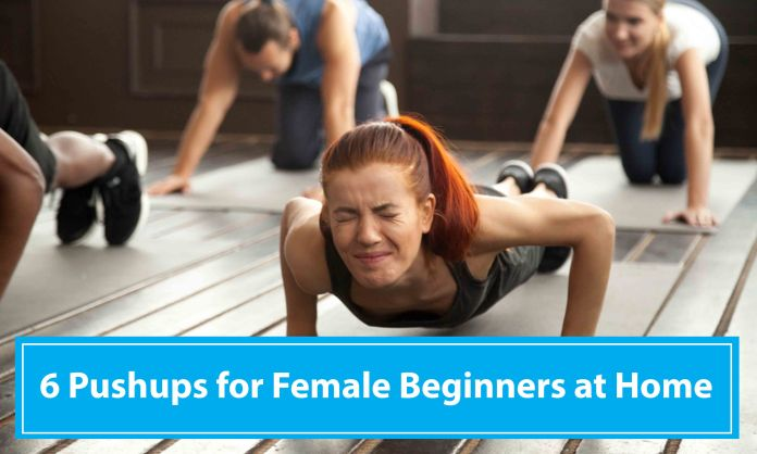 Easy Pushups for Female Beginners at Home