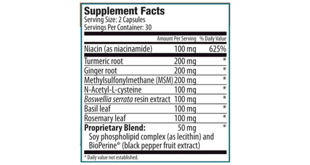 Joint FLX Ingredients