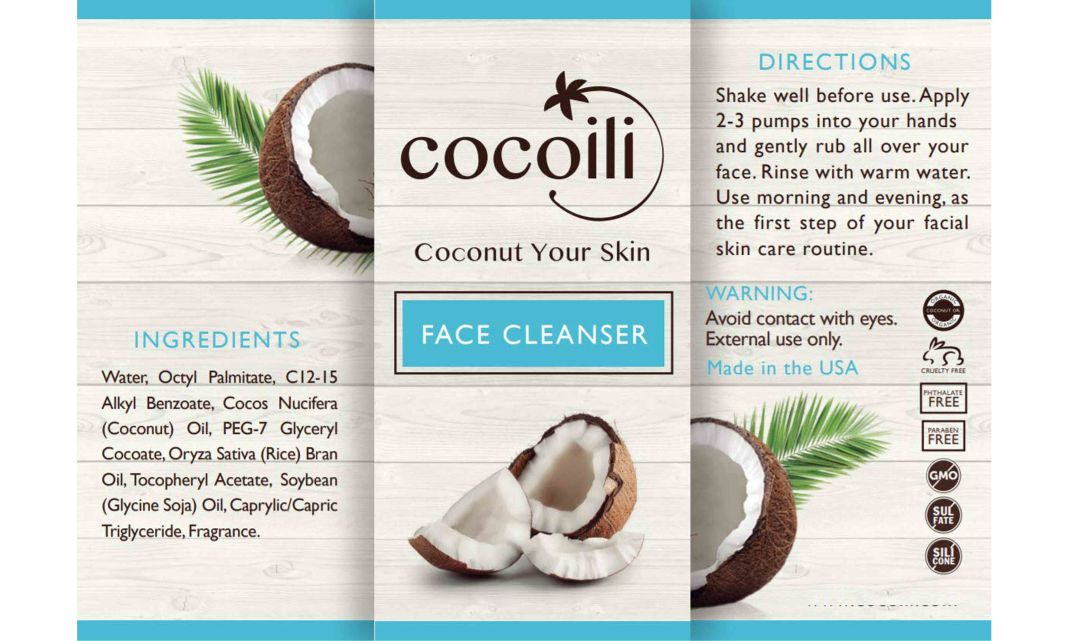 Cocoili Face Cleanser Ingredients