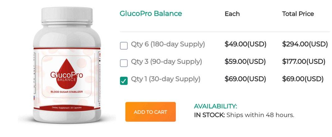 GlucoPro Balance Free Trial
