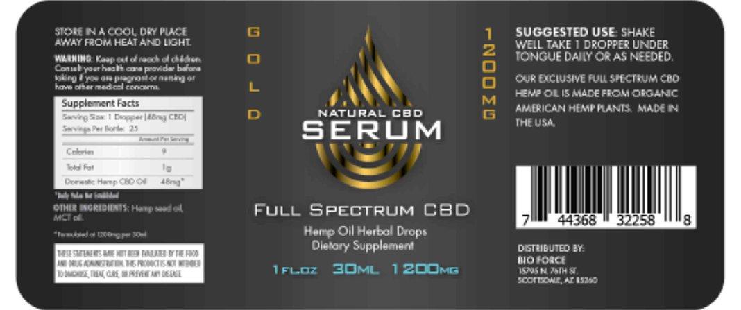 Natural Serum CBD Dosage
